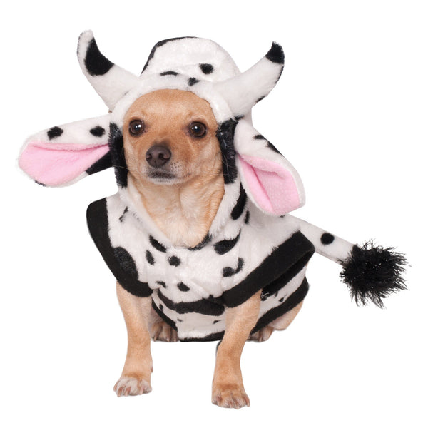 Cow Hoodie & Tail Pet Costume