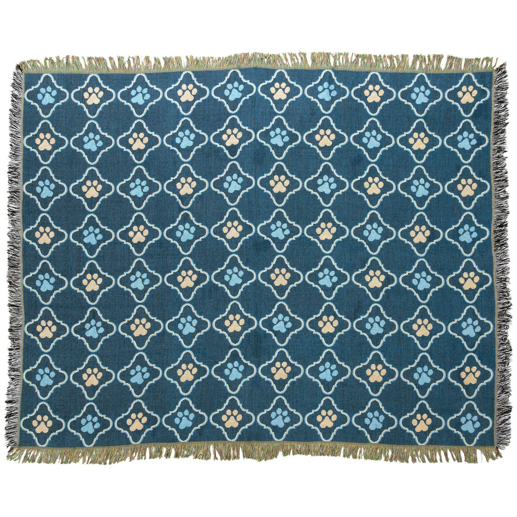 Cozy Paws Tapestry Throw Blanket
