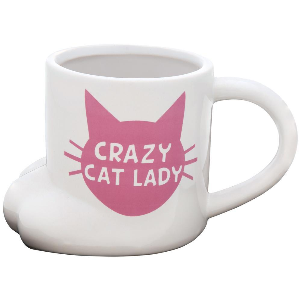 Crazy Cat Lady Cat Paw Mug