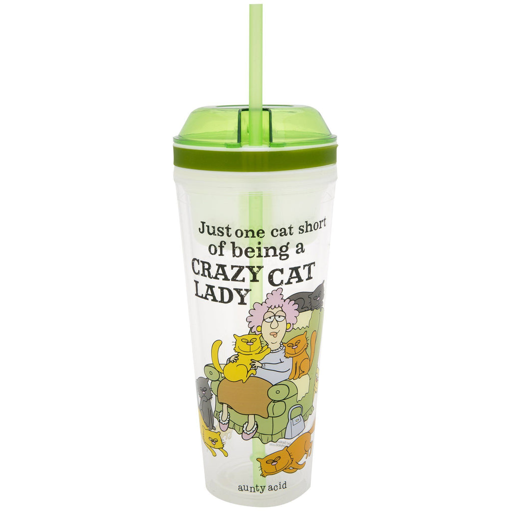 Crazy Cat Lady Drink & Snack Travel Cup