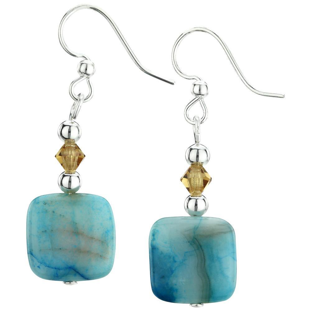 01d03352e152e Crazy Lace Agate Earrings| The Hunger Site
