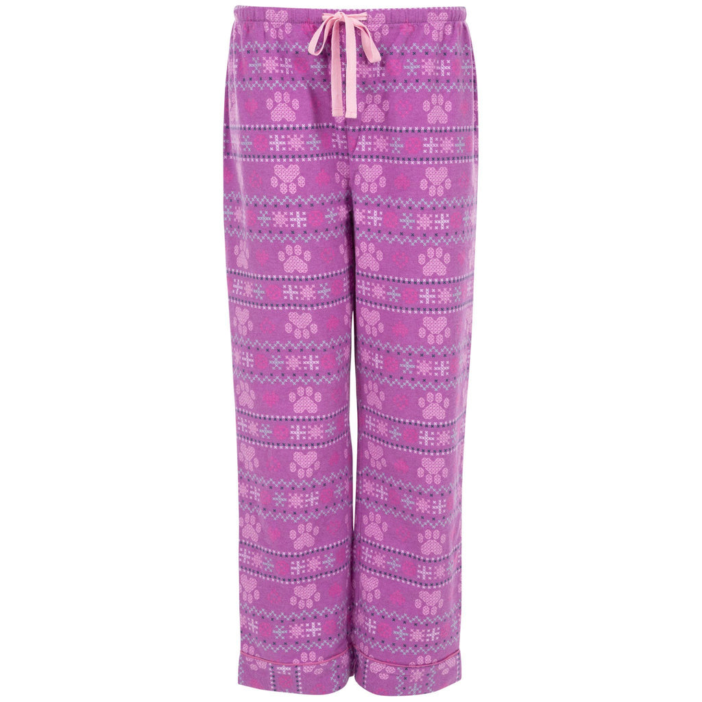 Cross Stitch Paw Flannel Pajama Pants