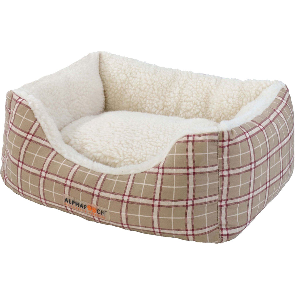 Cuddler Plaid Bolster Bed