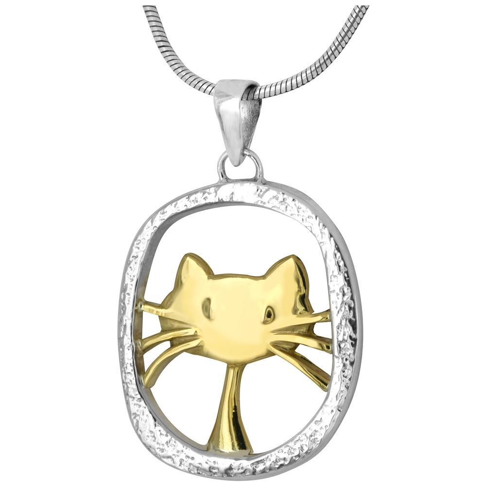 Cute Cat Sterling Necklace