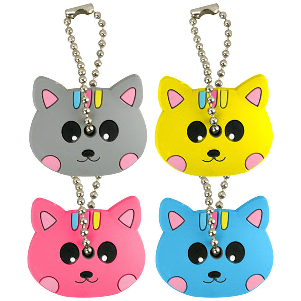Cute Kitty Key Covers - Set Of 4