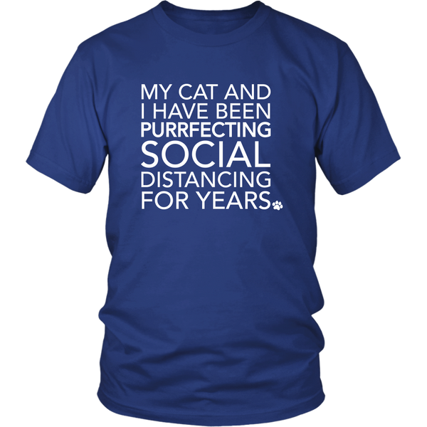 Social Distancing With My Cat T-Shirt