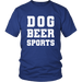 T-shirt - Dog Beer Sports T-Shirt