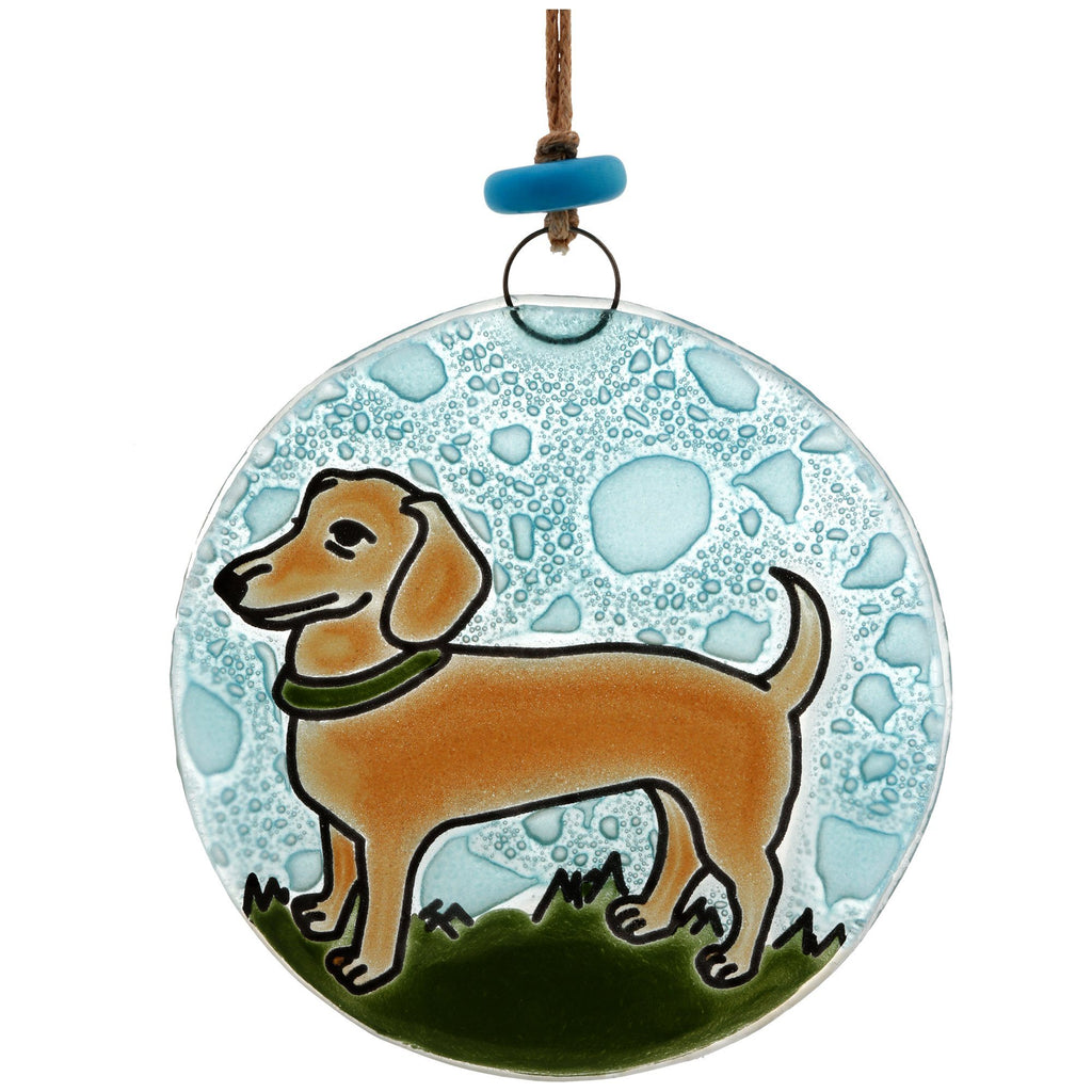 Dachshund Recycled Glass Ornament