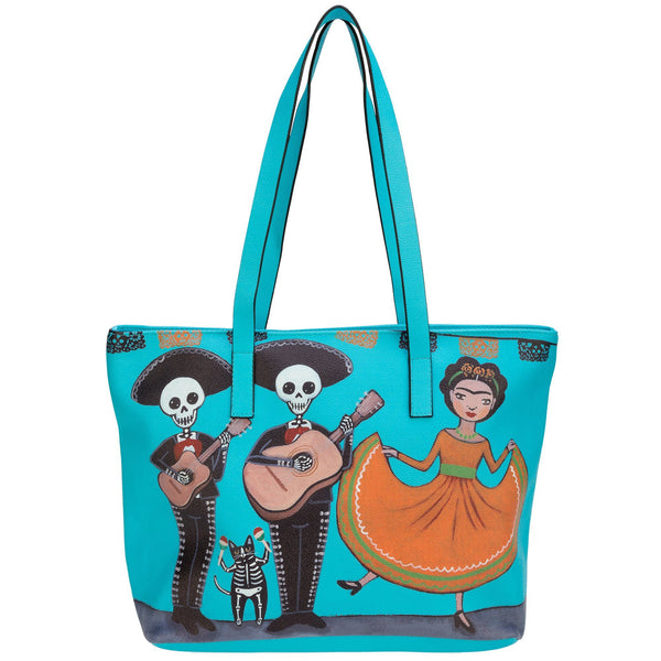Dancer & Mariachi Band Tote Bag