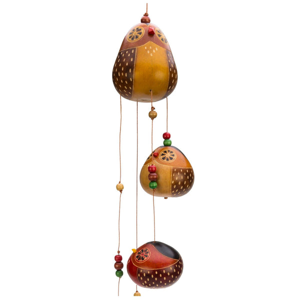 Dancing Owls Gourd Wind Chime