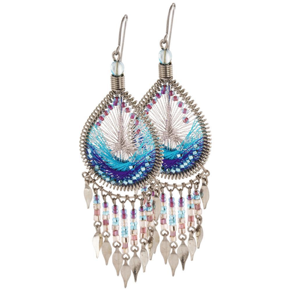 Dazzling Chandelier Thread Earrings
