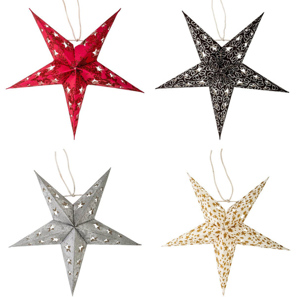 Decorative Paper Stars - Set Of 8