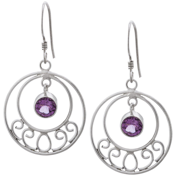 Devi Dangle Amethyst Earrings