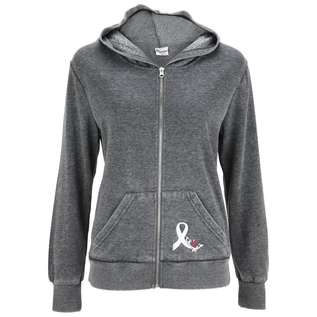Diabetes Awareness Burnout Hooded Zip Sweatshirt