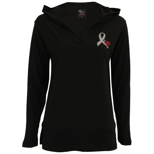 Diabetes Awareness Ribbon Lightweight Hooded Tunic