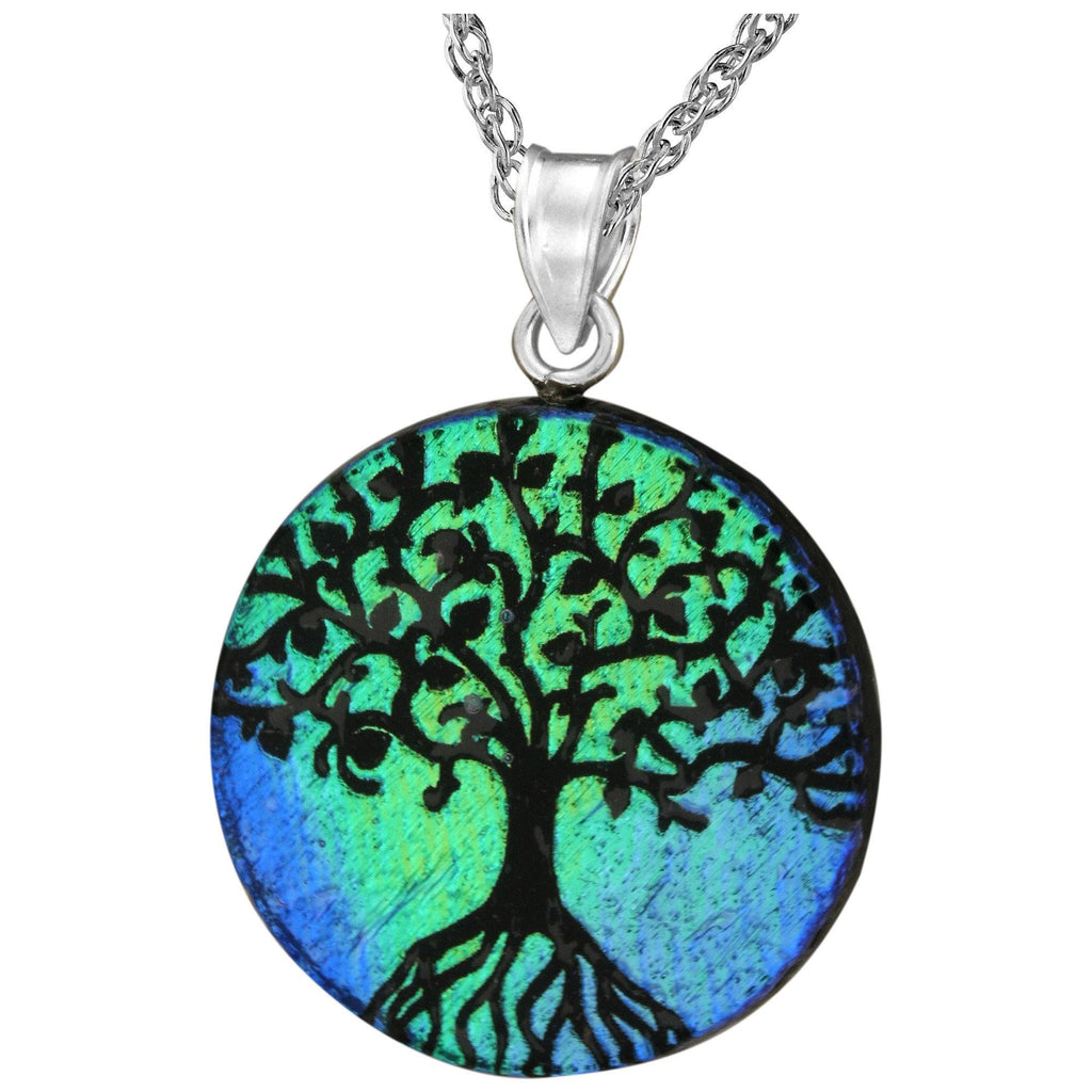 Dichroic Glass Tree Of Life Necklace