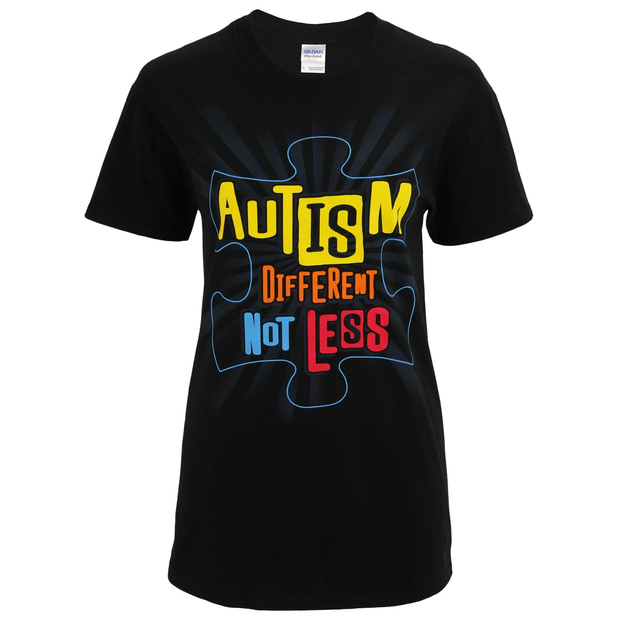 1185b63b748 Different Not Less Autism Awareness T-Shirt| The Autism Site