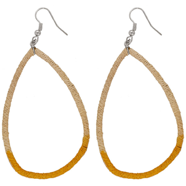 Dip Dyed Sisal Hoop Earrings