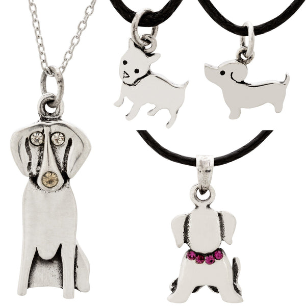 Dog Daze Sterling Necklace