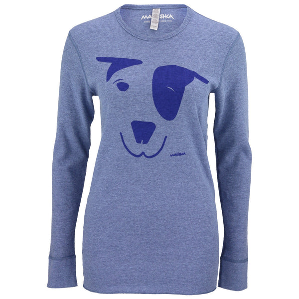 Dog Face Thermal Tee