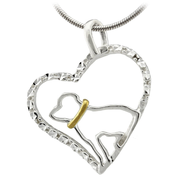 Dog Love Sterling Necklace