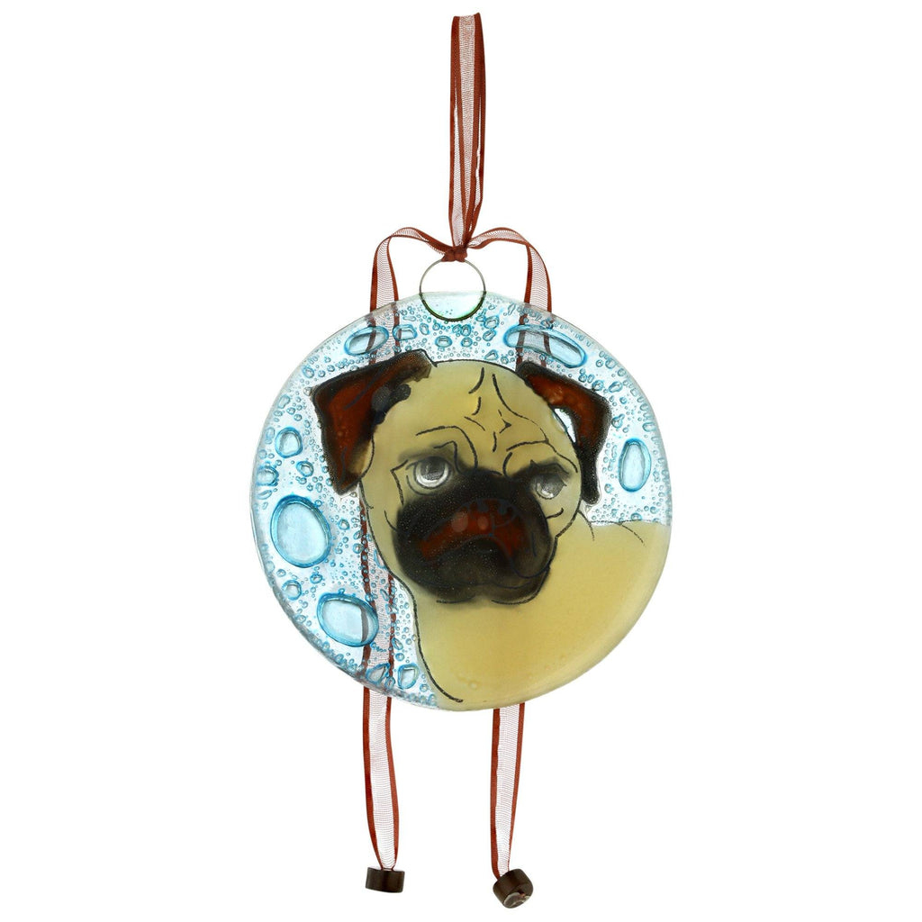 Dog Recycled Glass Ornament