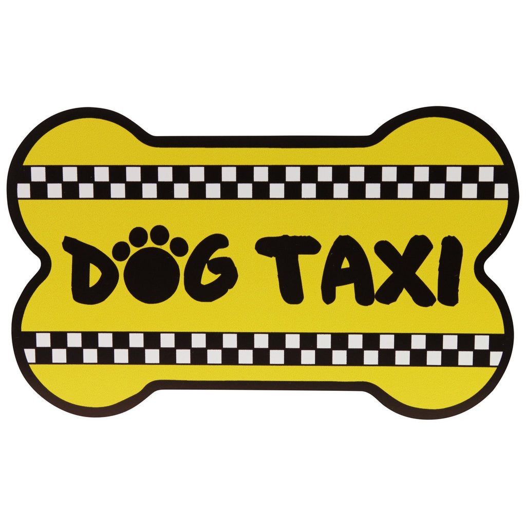 Dog Taxi Car Magnet