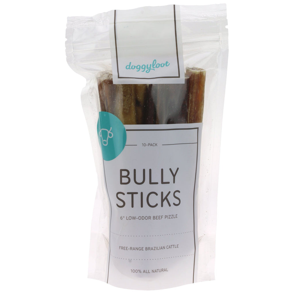 Doggyloot Low Odor Bully Sticks 6-Inch