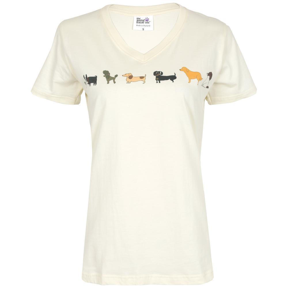 Dogs In A Line V-neck T-Shirt