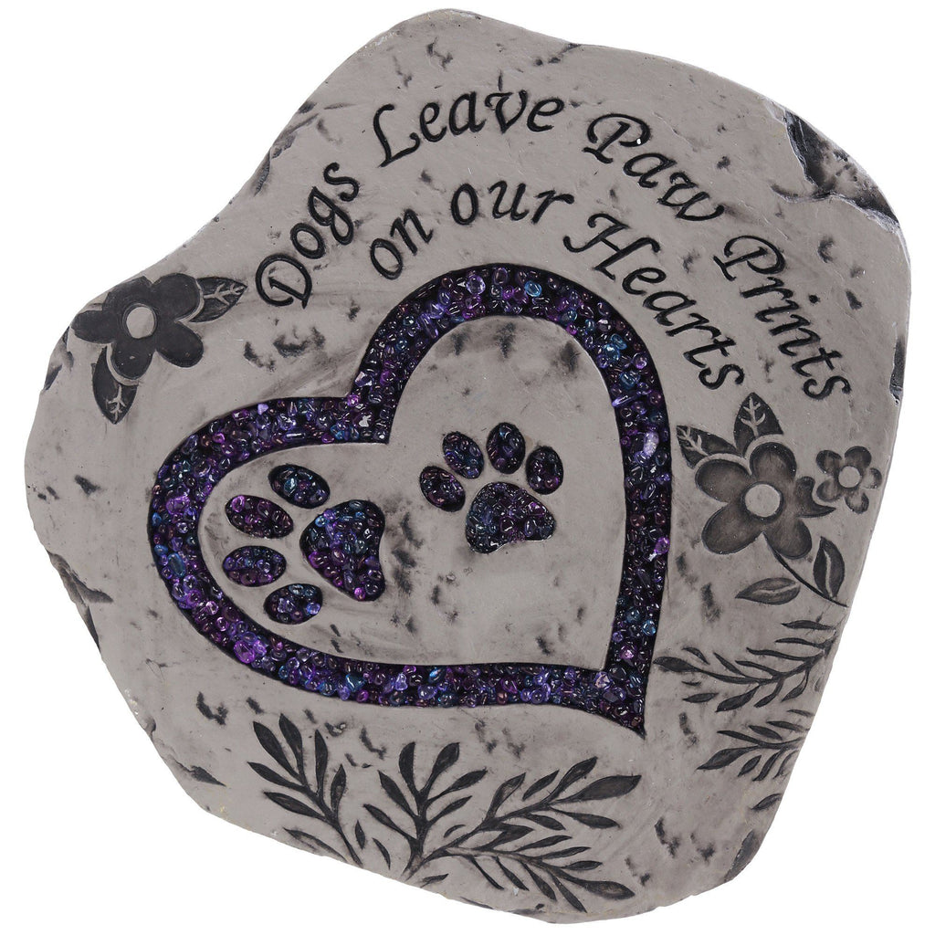 Dogs Leave Paw Prints Garden Stepping Stone