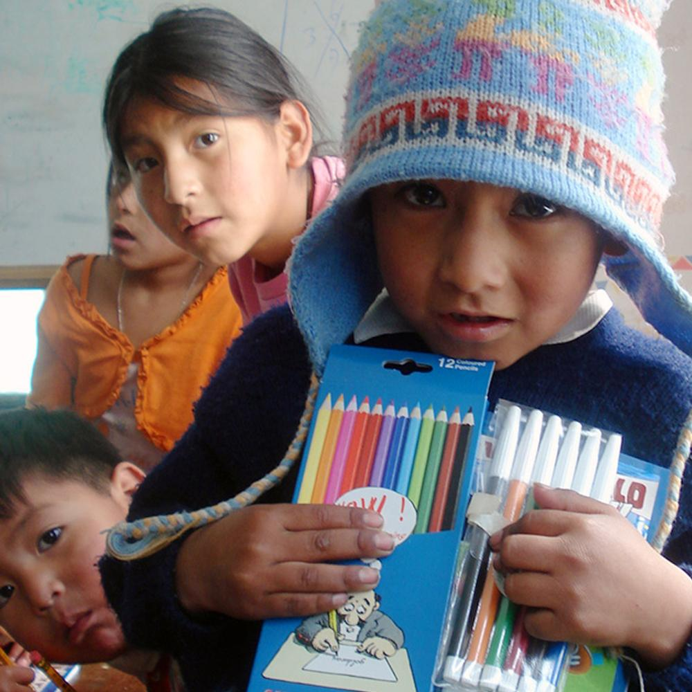 Donation - School Supplies For Bolivian Children