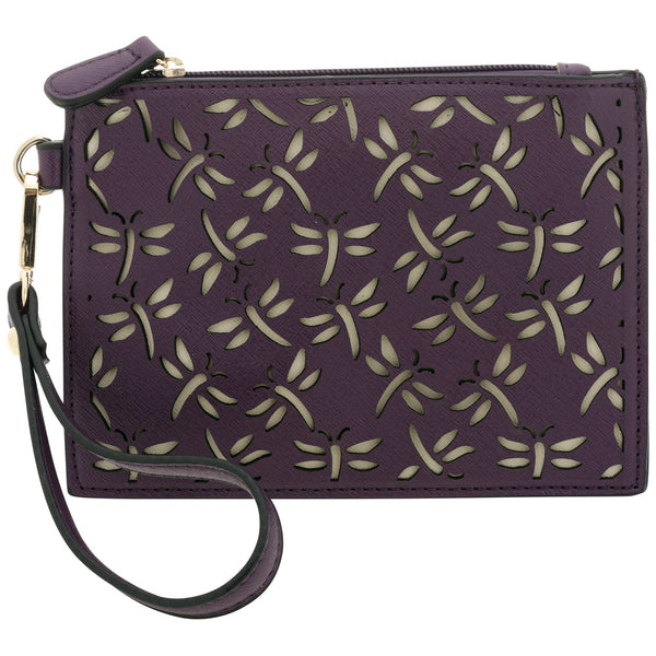 Dragonfly Cut Out Wristlet Wallet