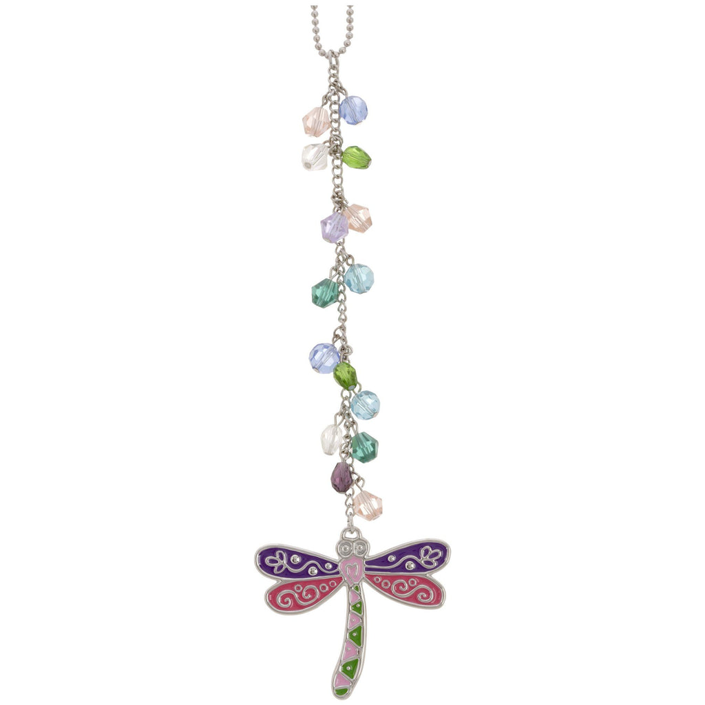 Dragonfly Glass Bead Car Charm