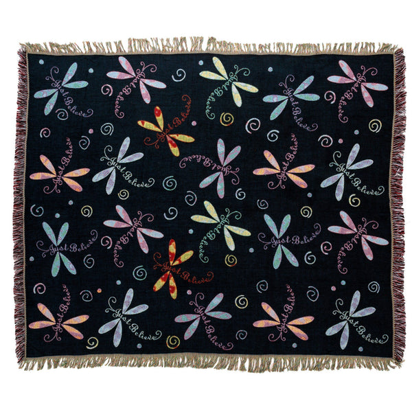 Dragonfly Tapestry Throw Blanket