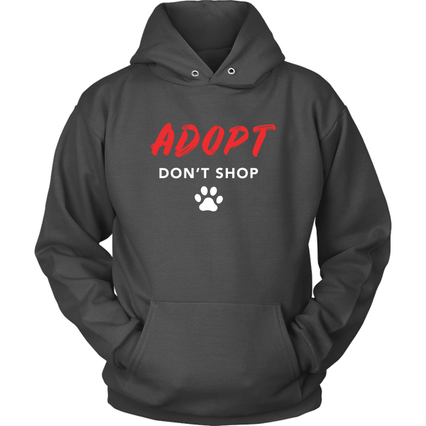 T-shirt - Bold Adopt Don't Shop Hoodie
