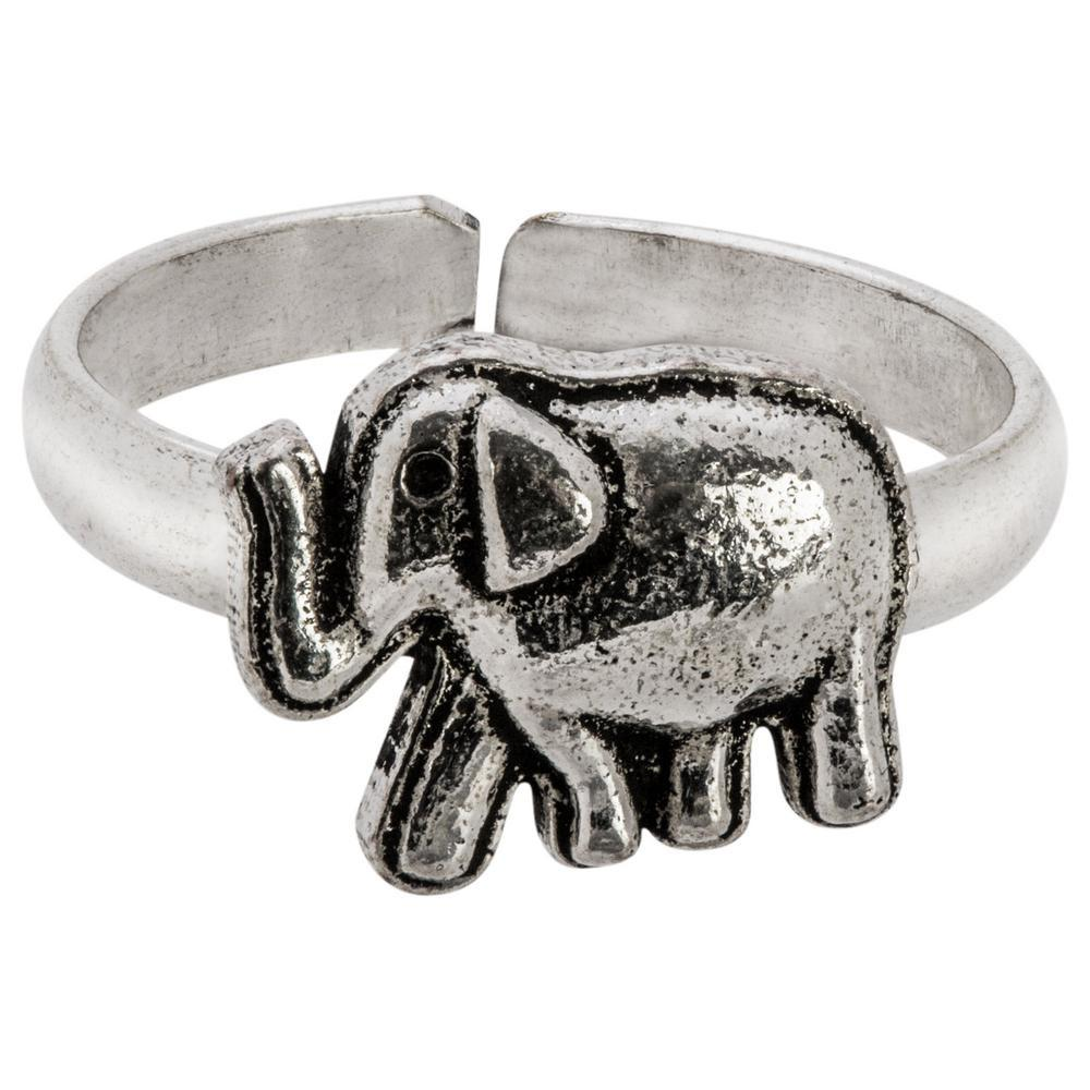 Elephant Charms Toe/Midi Ring