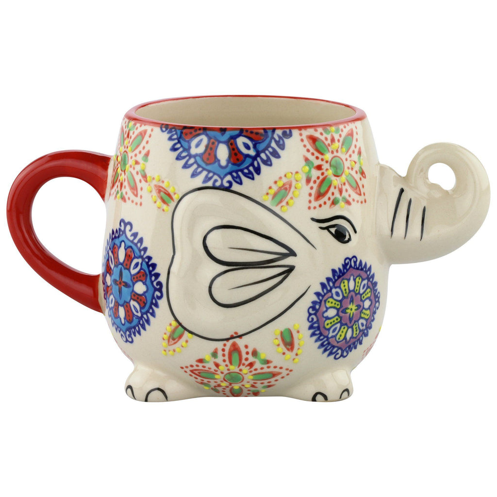 Elephant In The Garden Grande Mug