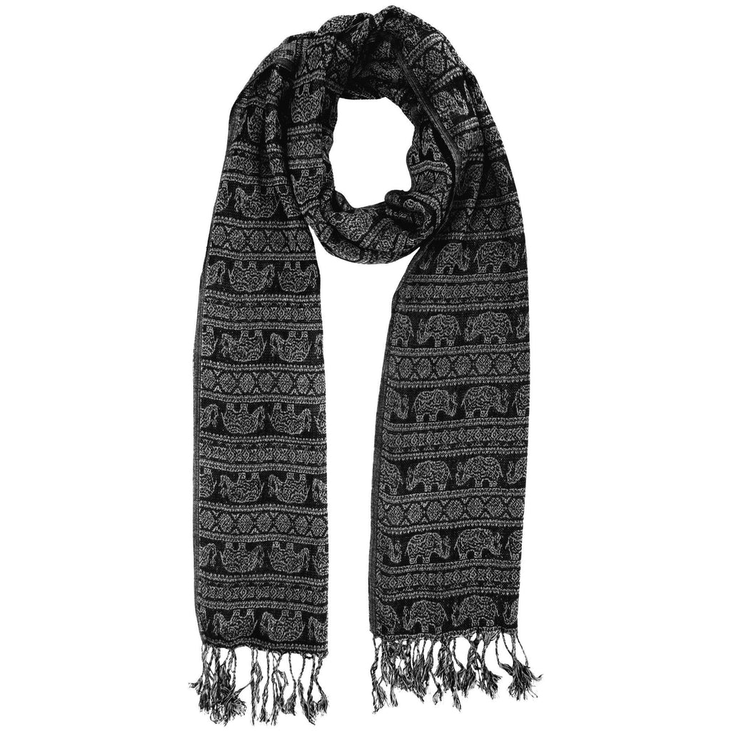 Elephant March Jamawar Scarf