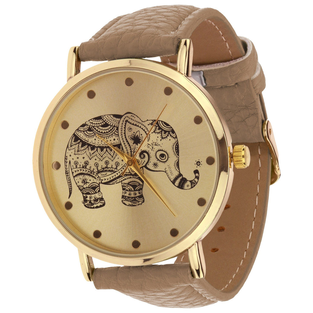 Elephant Strap Band Watch
