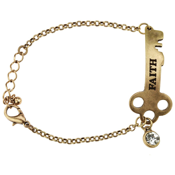 Faith Is The Key Bracelet