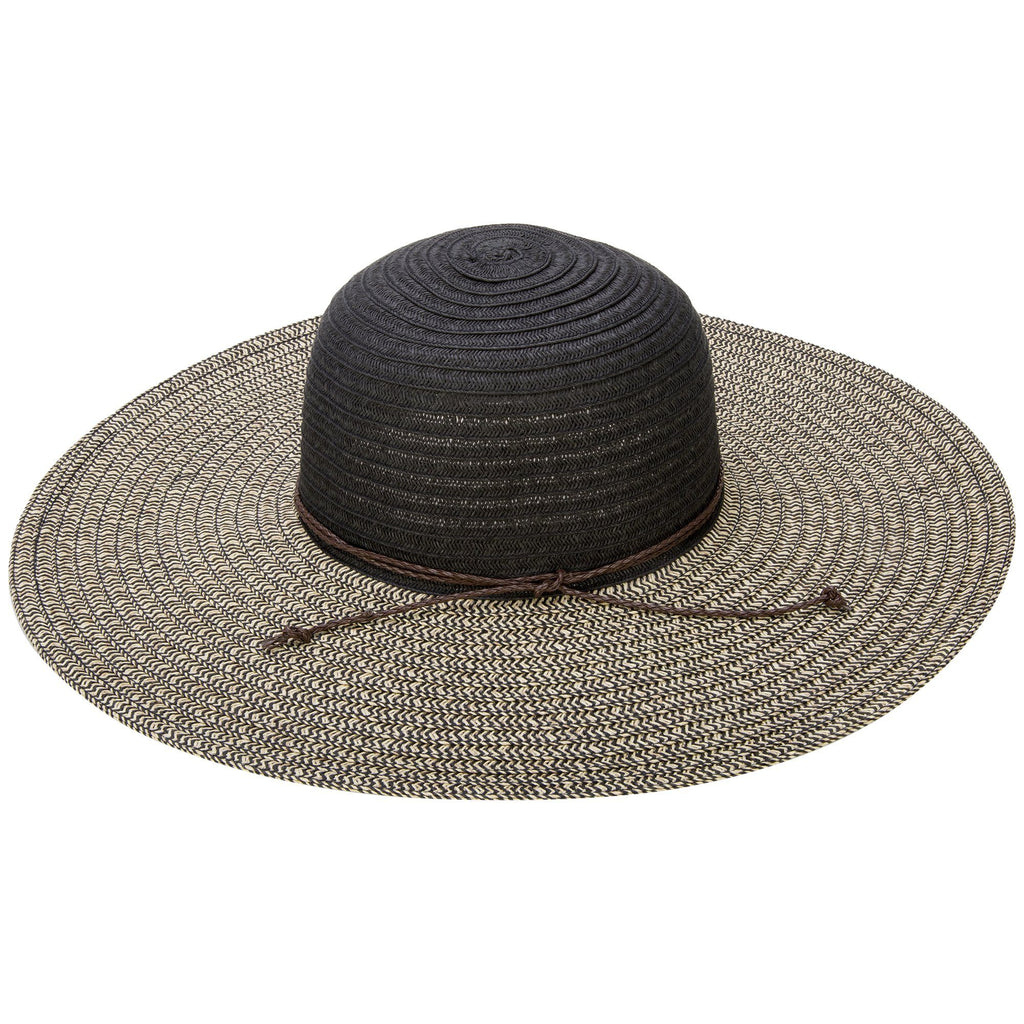Faux Leather Band Sun Hat