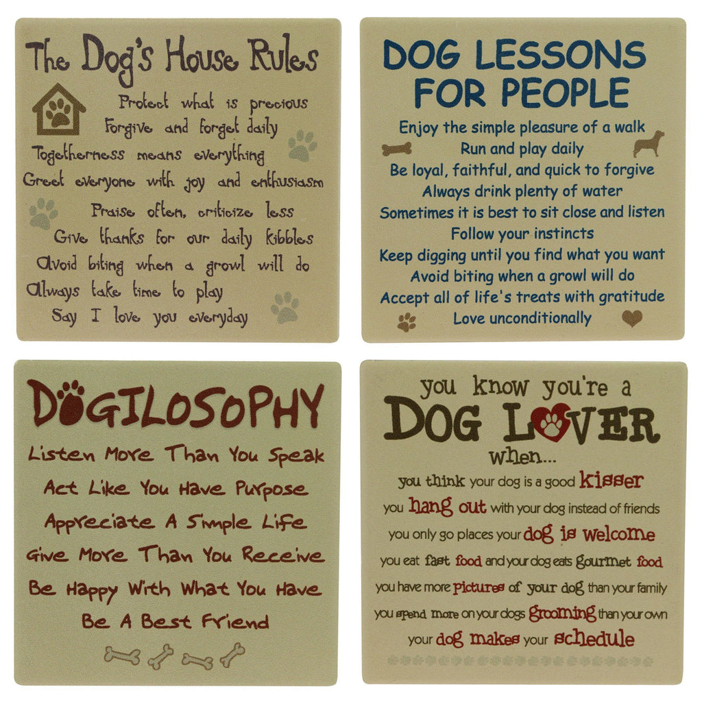 Favorite Dog Sayings Coasters - Set Of 4