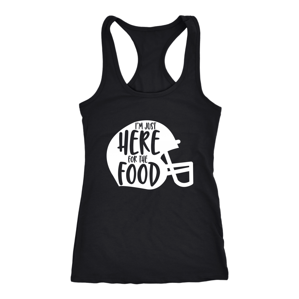 T-shirt - Here For The Food Racerback Tank