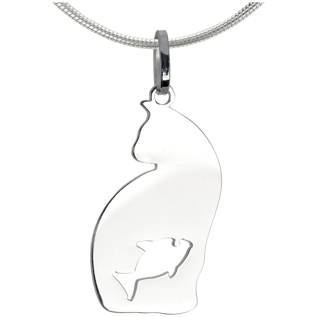 Feline Instincts Sterling Necklace