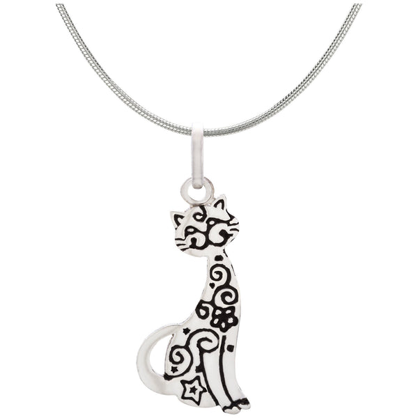 Festival Cat Sterling Necklace