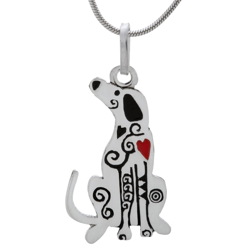 Festival Dog Sterling Necklace