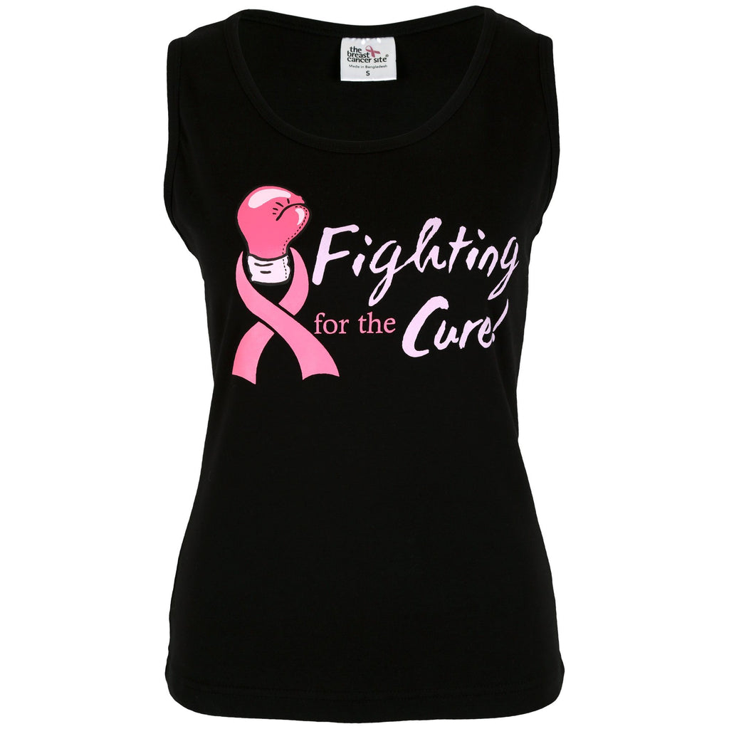 Fighting For The Cure Pink Ribbon Tank Top