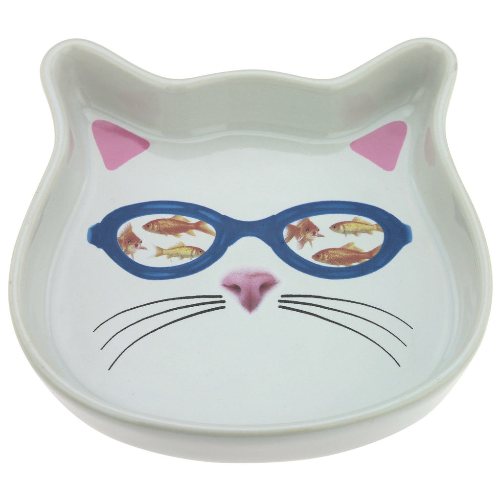 Fish Goggles Cat Bowl