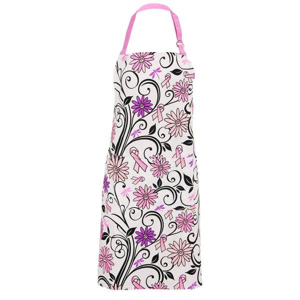 Floral Delight Pink Ribbon Apron