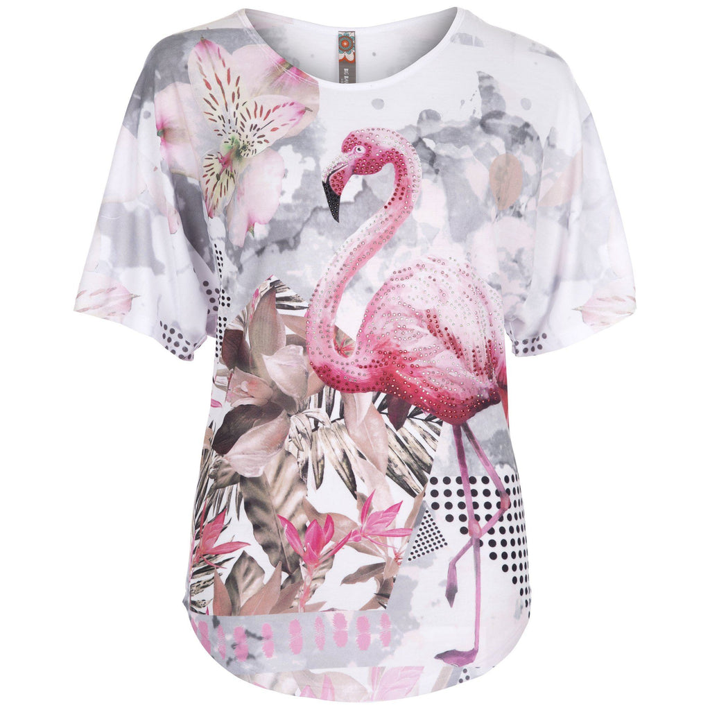 Floral Flamingo Tee
